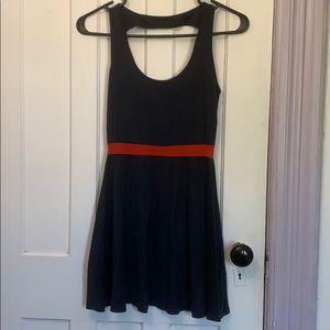 Vintage style red stripe dress